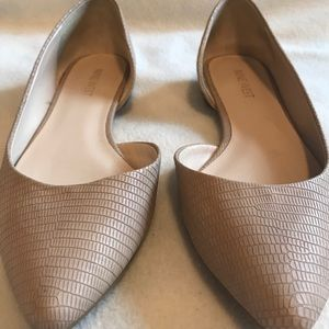 Nine West Pointed-toe Nude Flats